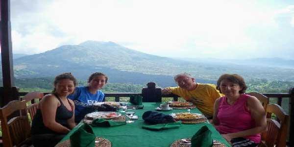 restaurant in kintamani, restaurant with volvano view