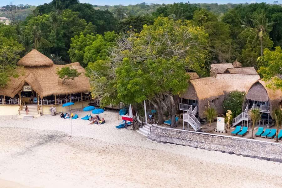 bali hai beach club, lembongan island