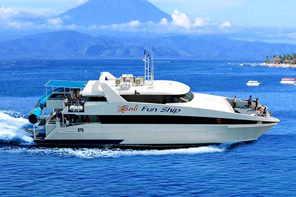 bali fun ship, island explorer cruises, lembongan island