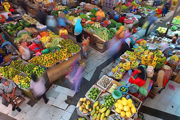 traditional market, denpasar city