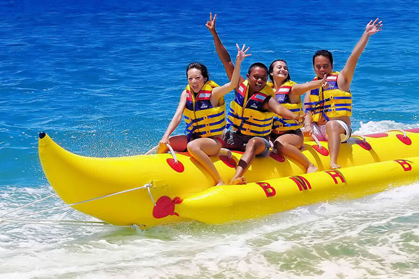 banana boat ride, bmr bali dive and water sports