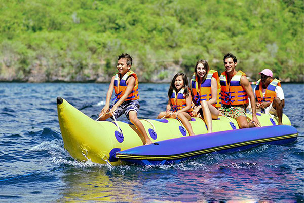 Banana Boat ride activity in Nusa Penida island