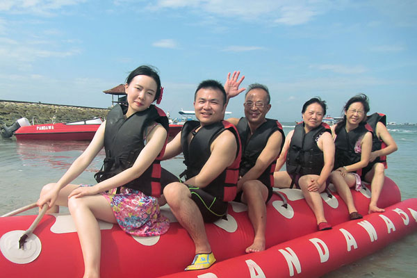 banana boat ride, pandawa marine adventure