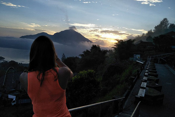 Catch Sunrise at Mount Batur before cycling
