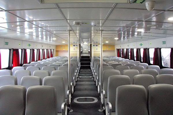 eka jaya fast boat interior view