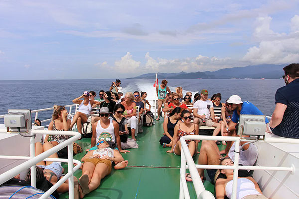 eka jaya fast boat top deck