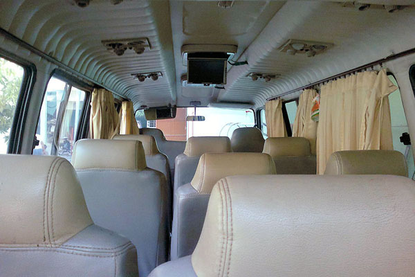 interior view of ELF long 17 seats