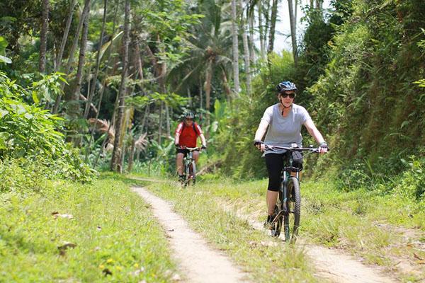 rural track, bali moon bike tour