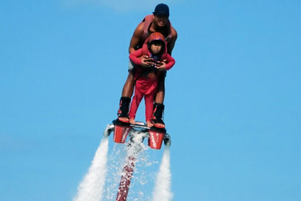 Fly Boarding at Benoa Tirta Harum