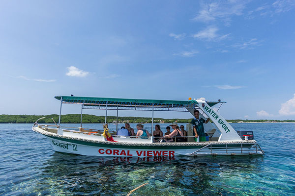 glass bottom boat, scoot fast cruise, lembongan