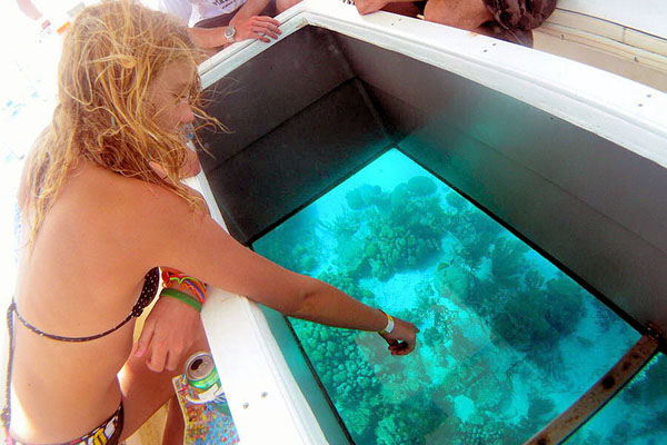 glass bottom tour, lembongan island, bounty