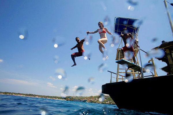 dive board, lembongan island, beach club cruise