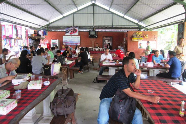 lunch, panoramic view, restaurant, payung rafting