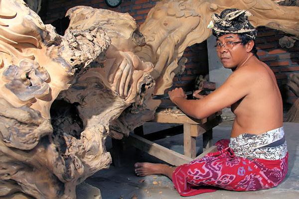 mas village, bali wood carving