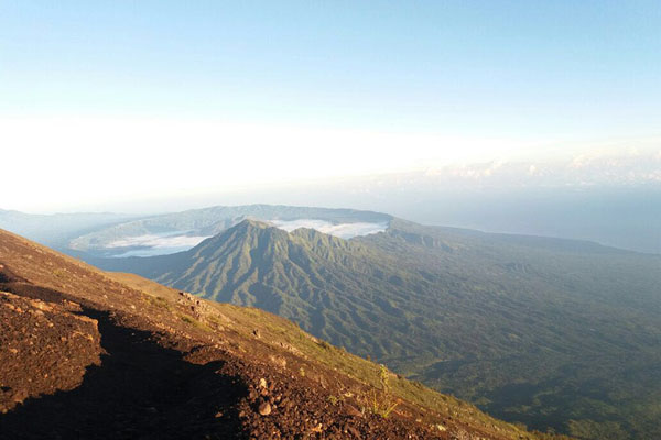 Mount Agung at the Top view