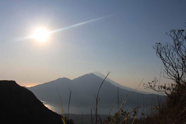 mount batur, view, at the top