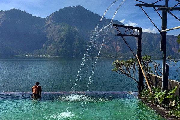 natural hot springs, batur, vulcano