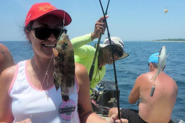 nusa dua fishing, bottom and trolling fishing bali