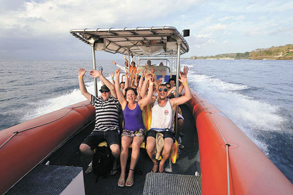 ocean rafting cruise, three island day cruise bali