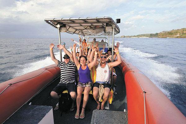 ocean rafting cruise, three island day cruise bali