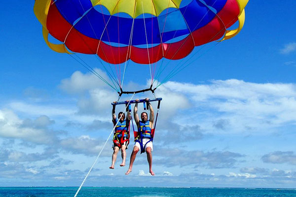 Parasailing adventure, tanjung benoa, water sports
