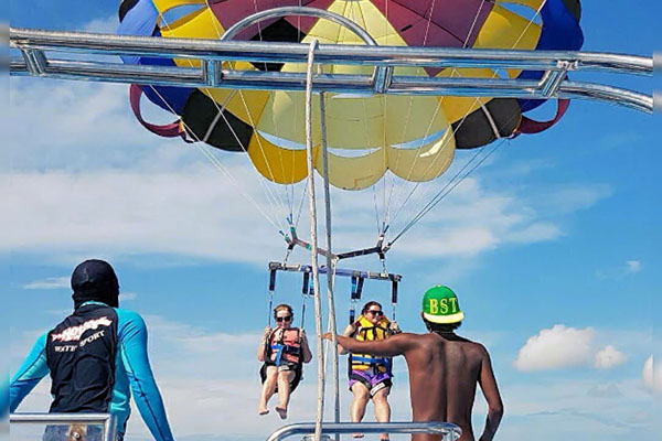 parasailing adventure, hotdog watersports