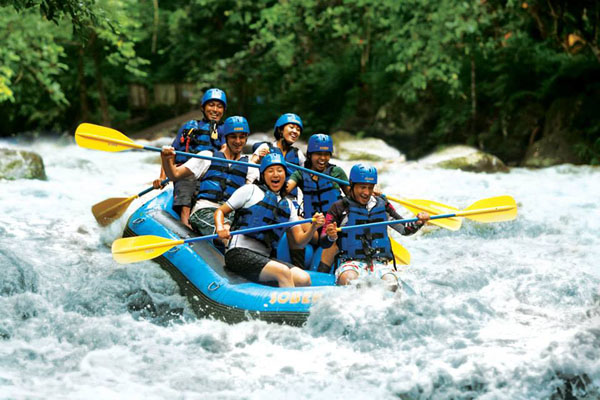 Rafting adventure, ayung river, sobek bali
