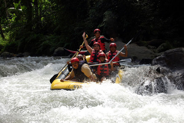 rafting adventure, ayung river