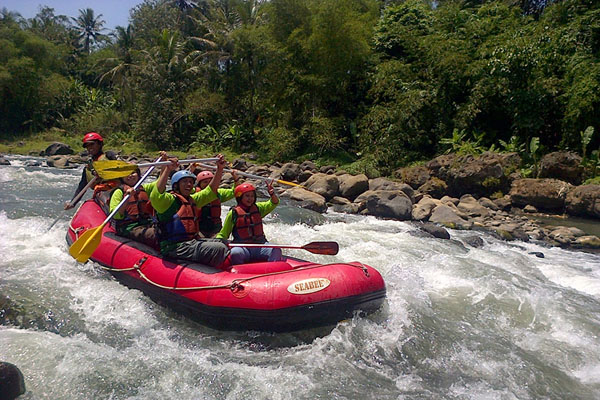 rafting adventure, melangit river