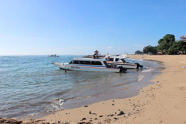 sanur beach public boat to lembongan