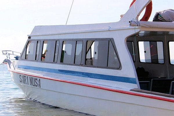 sari nusa boat, public boat to lembongan