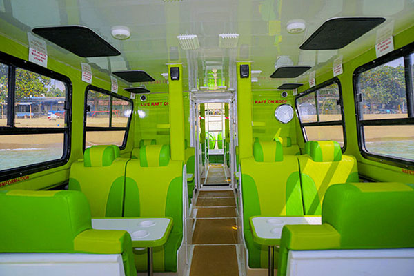 scoot fast boat, interior view