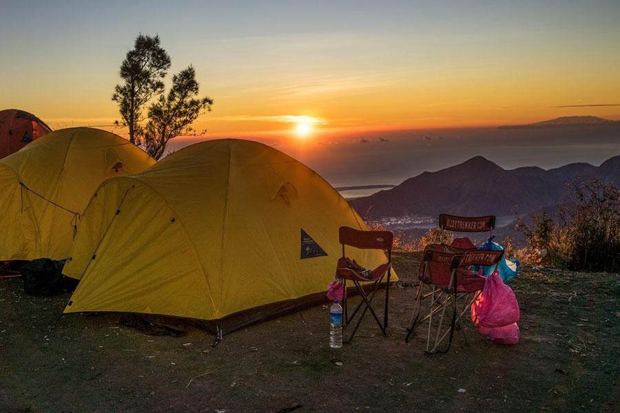 camping tents, batur trekking camping