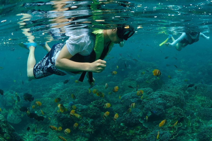 Snorkeling in Lembongan with Bali Hai Cruises