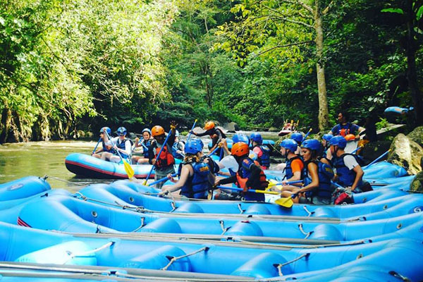 Starting point to rafting by Sobek Bali