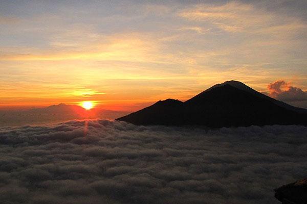 sunrise, mount batur