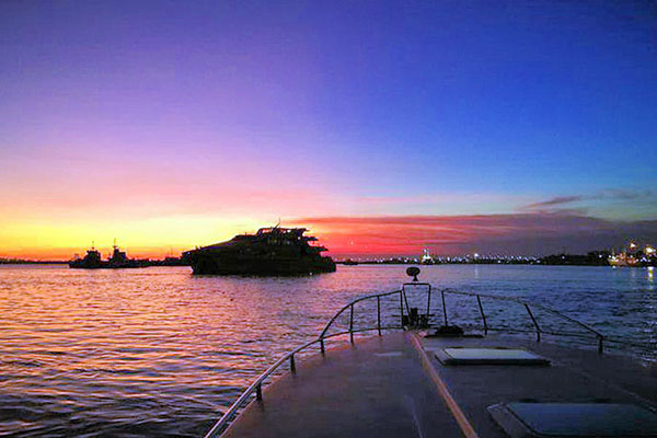 sunset view, benoa harbor, bounty sunset cruise