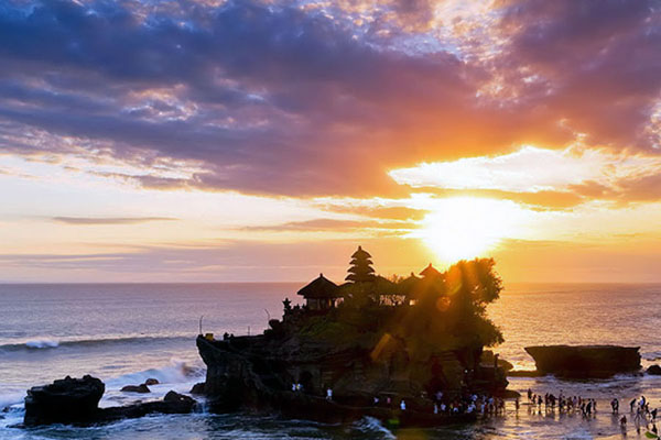 tanah lot temple, tanah lot sunset