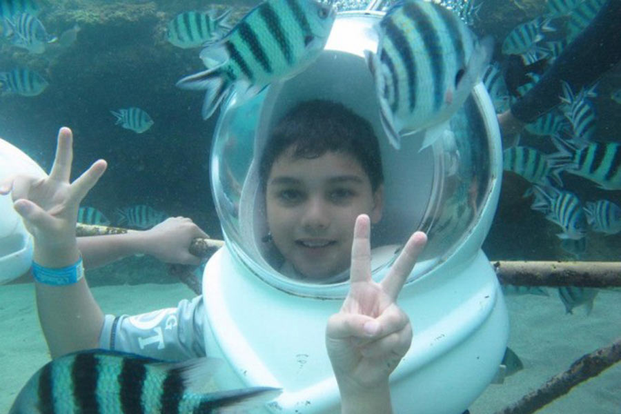 underwater tour, club aqua seawalker sanur