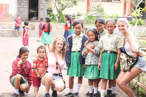 local school, ubud village, ubud bike tour