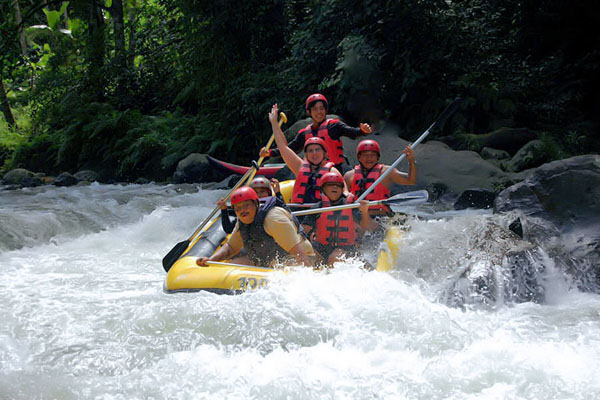 white water rafting, ayung river, combination tour bali